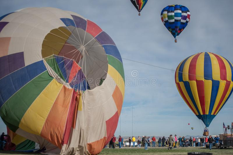 Воздушные шары на фестивале воздушного шара стоковые изображения rf