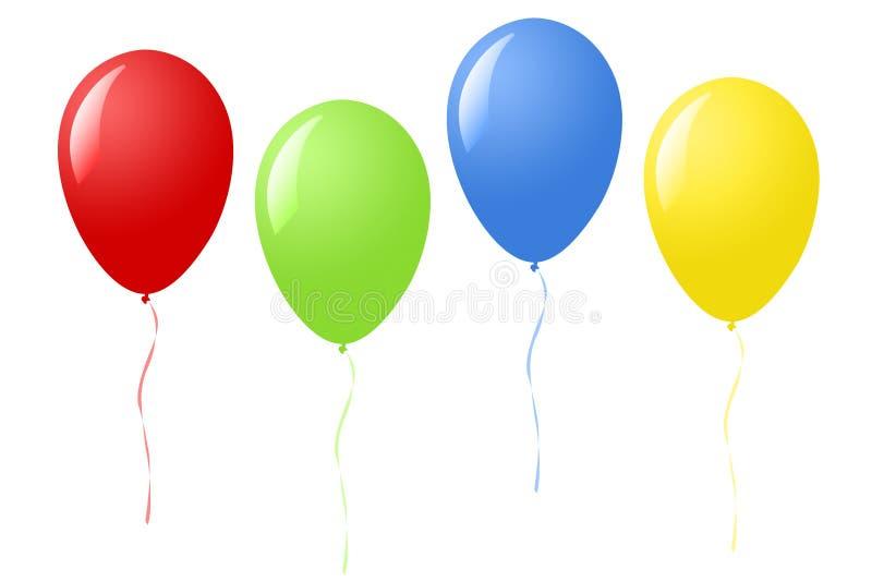 Воздушные шары партии иллюстрация штока
