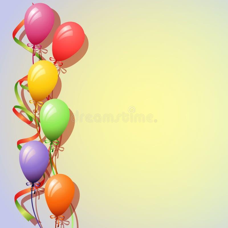 воздушные шары предпосылки иллюстрация вектора