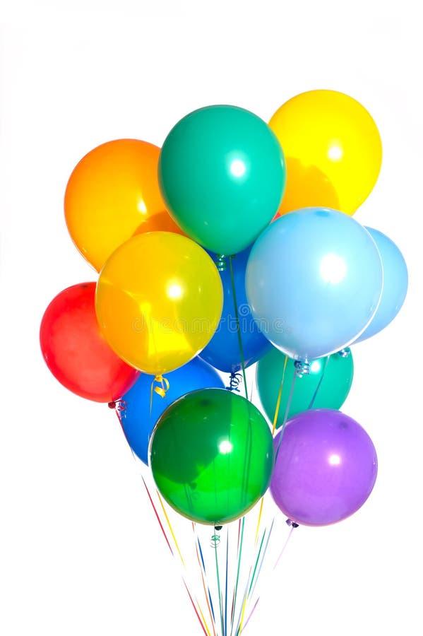 воздушные шары собирают белизну стоковое изображение
