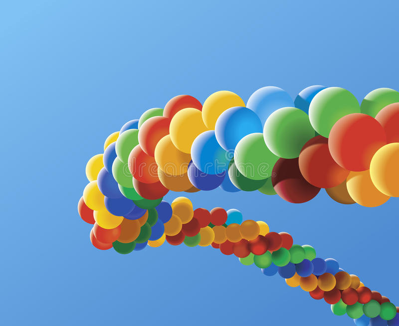 воздушные шары иллюстрация вектора
