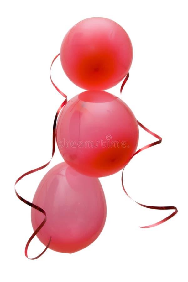 воздушные шары party красный цвет стоковая фотография