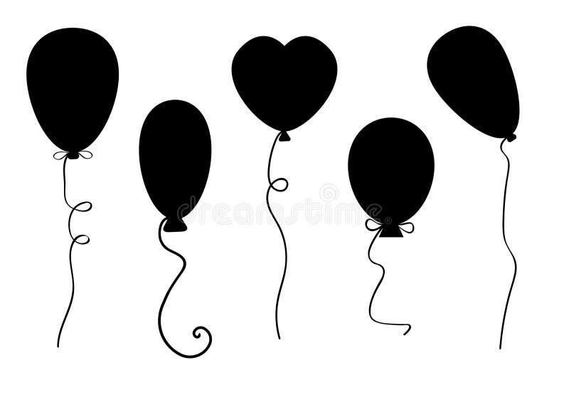 Воздушные шары vector комплект иллюстрация штока