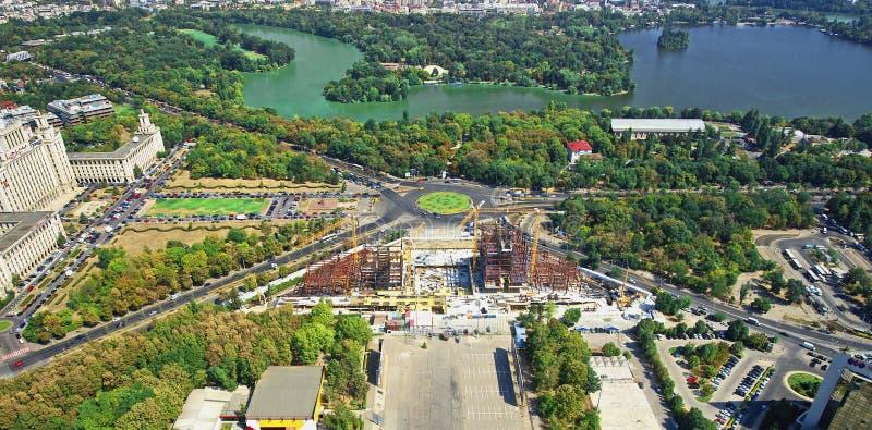 воздушный взгляд города стоковые изображения