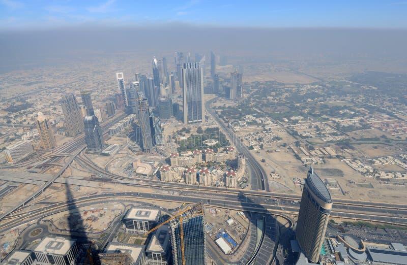 воздушный взгляд Дубай города стоковая фотография