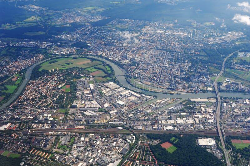 воздушный взгляд европы города стоковое фото rf