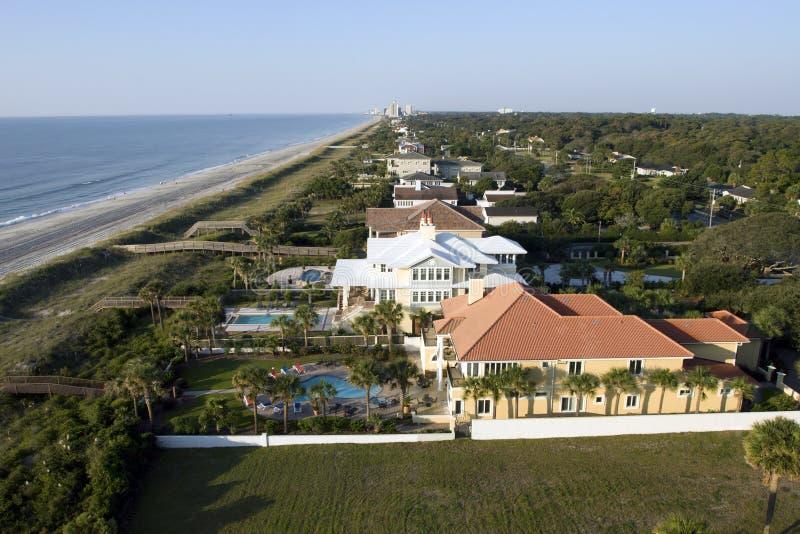 воздушный взгляд мирта пляжа стоковые изображения