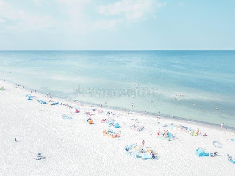 воздушный взгляд пляжа стоковые фотографии rf