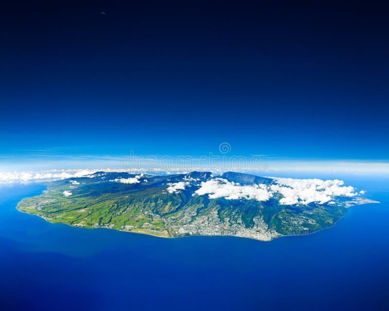 воздушный взгляд реюньона острова стоковое изображение