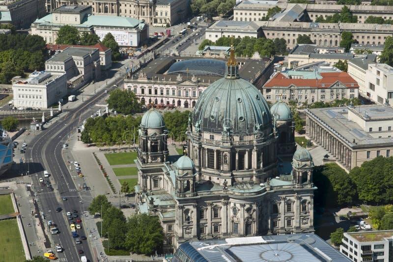 воздушный взгляд собора berlin стоковая фотография rf