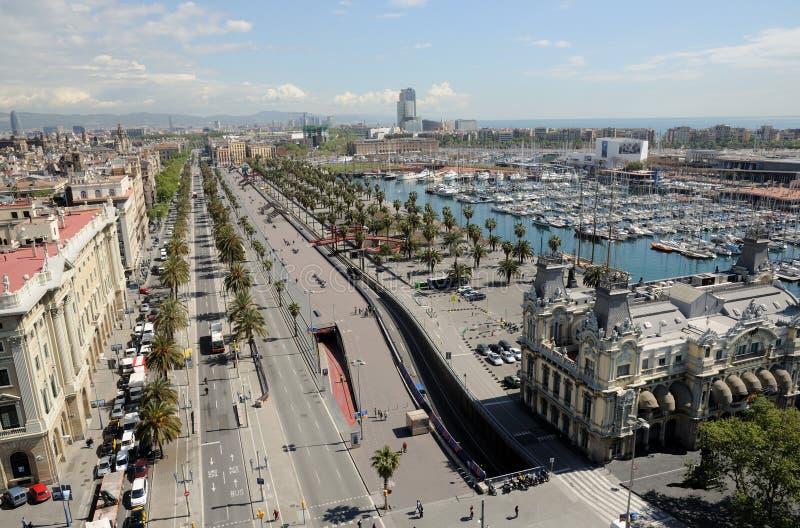 воздушный взгляд barcelona Испании стоковые фотографии rf