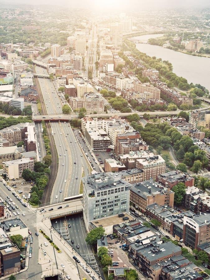 воздушный взгляд boston стоковое изображение