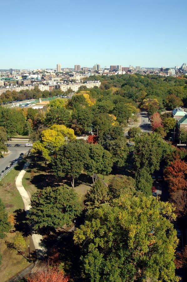воздушный взгляд boston стоковая фотография rf