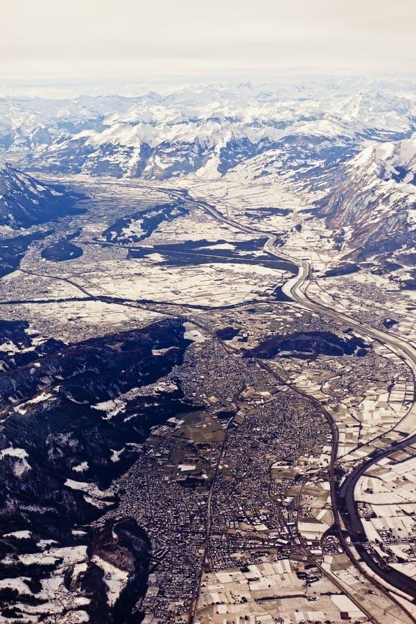 воздушный взгляд chur стоковые изображения rf