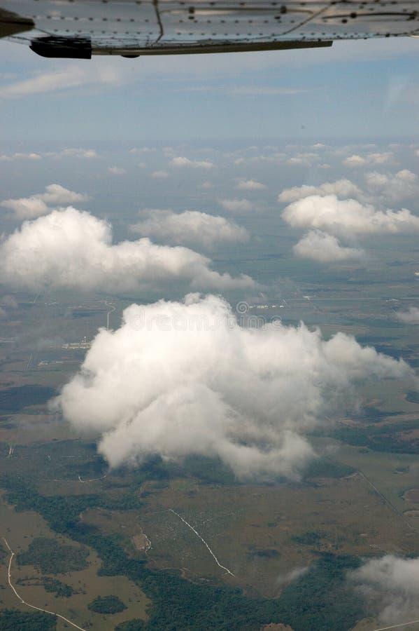 воздушный взгляд cloudscape стоковое изображение
