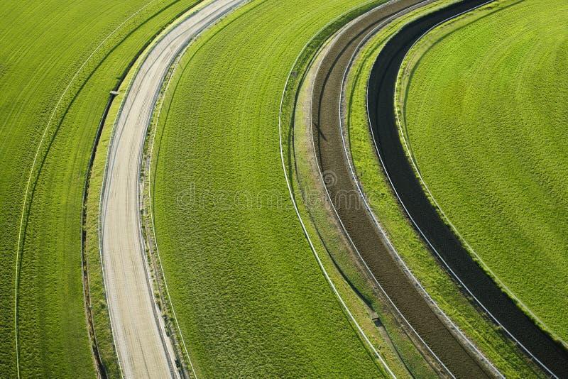воздушный взгляд cropland стоковые изображения rf
