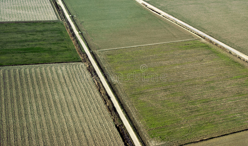воздушный взгляд cropland стоковое изображение rf