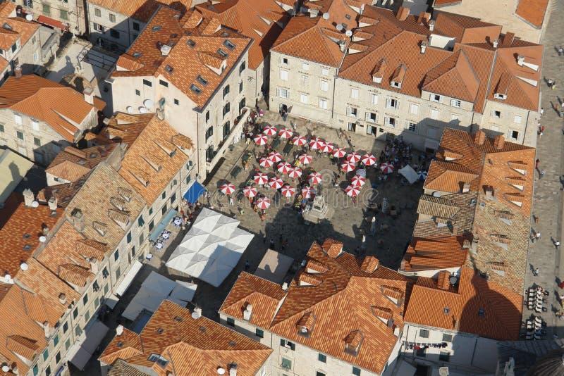 воздушный взгляд dubrovnik стоковое фото rf