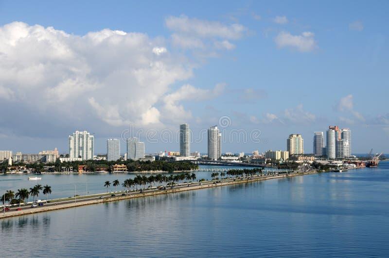 воздушный взгляд florida miami пляжа стоковая фотография