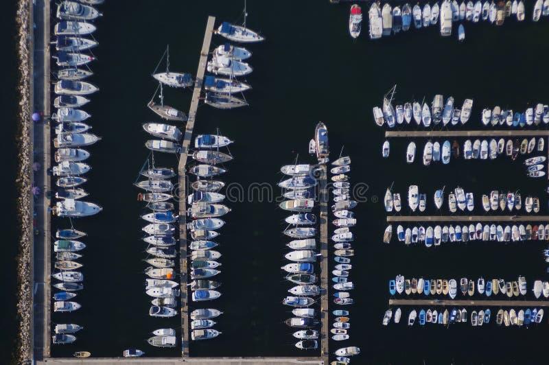 воздушный взгляд istria Хорватии vrsar стоковое фото rf