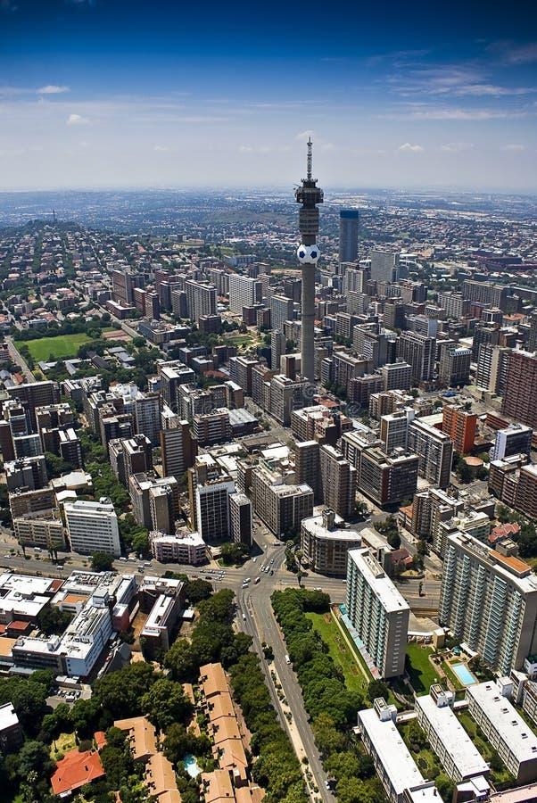 воздушный взгляд johannesburg cbd стоковые изображения