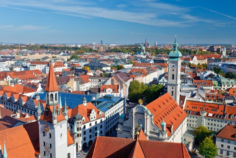 воздушный взгляд munich стоковая фотография rf