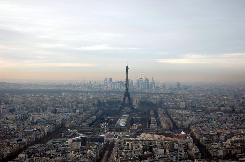 воздушный взгляд paris стоковая фотография
