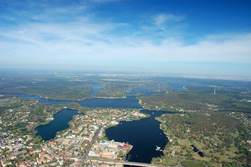 воздушный взгляд potsdam стоковое фото rf