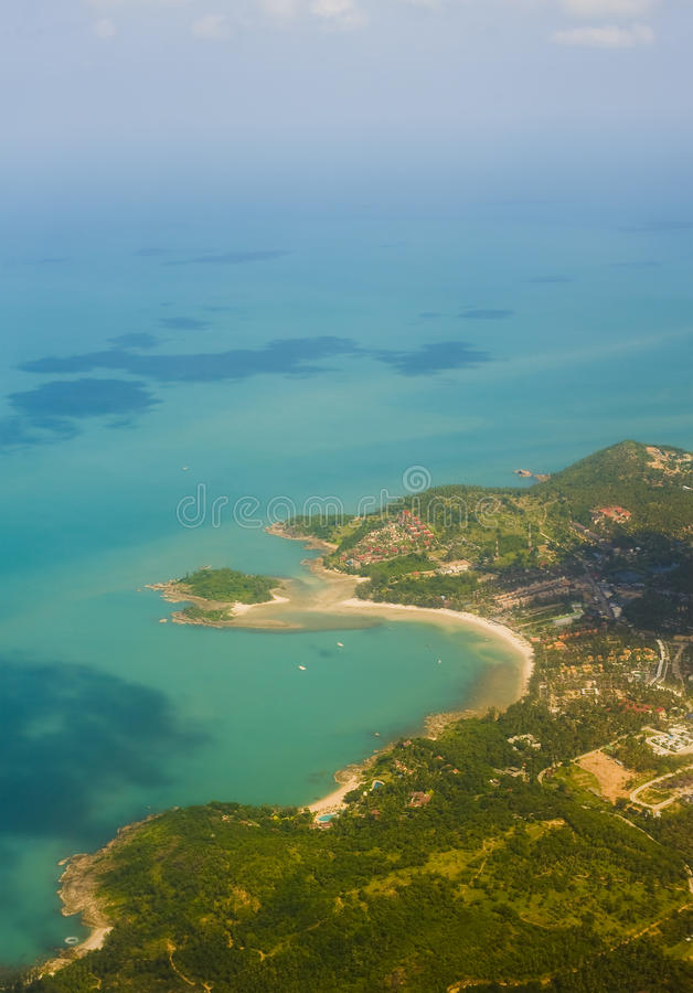 воздушный взгляд samui острова стоковое фото rf