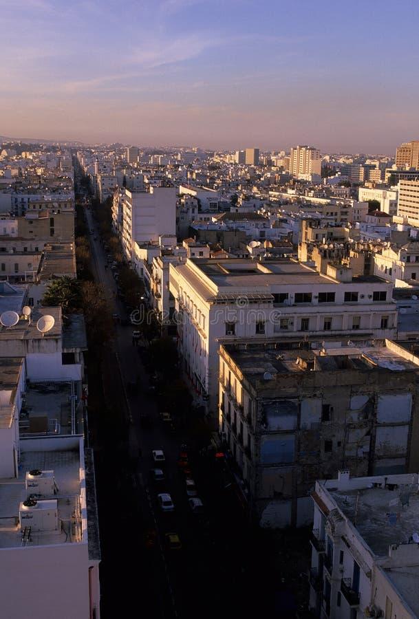 воздушный взгляд tunis Туниса стоковые изображения rf