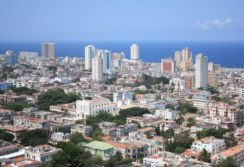 воздушный взгляд vedado Кубы havana квартальный стоковая фотография rf