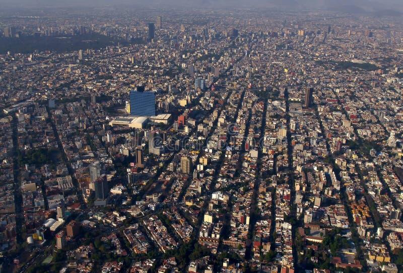 воздушный город Мексика стоковая фотография rf
