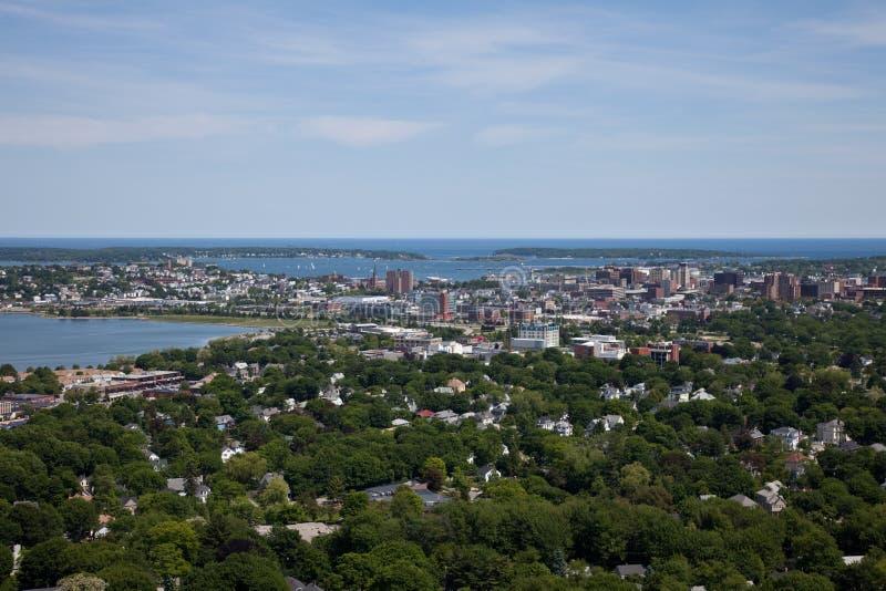 воздушный Мейн portland стоковое фото
