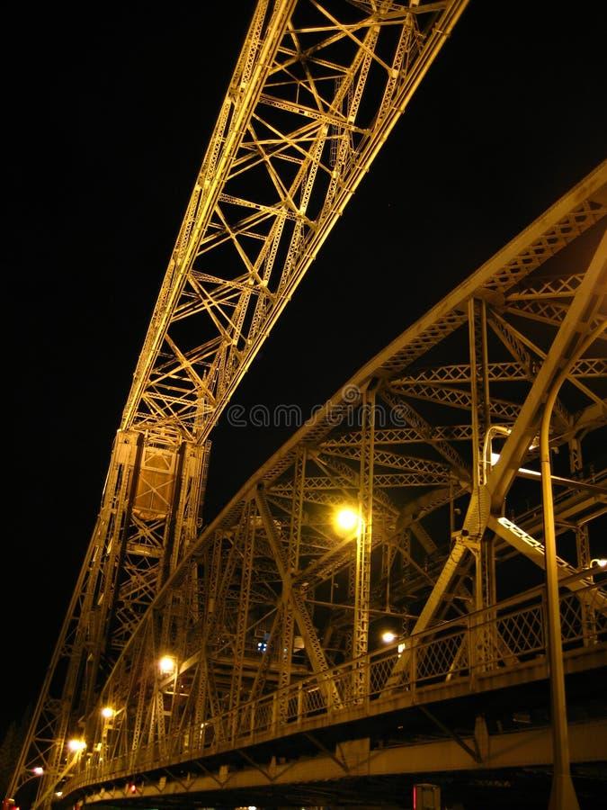 воздушный подъем duluth моста стоковая фотография rf