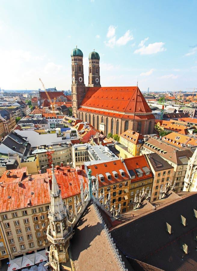 воздушный разбивочный взгляд munich города стоковое изображение