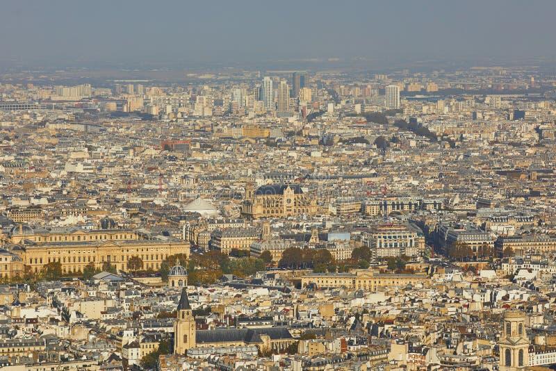 Воздушный сценарный взгляд центрального Парижа стоковые изображения