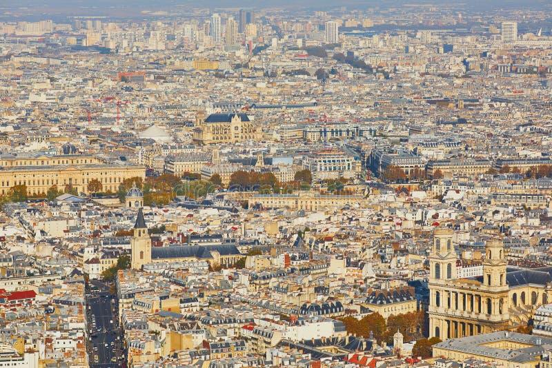 Воздушный сценарный взгляд центрального Парижа стоковое изображение