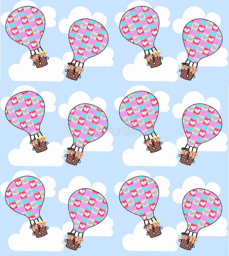 воздушный шар безшовный иллюстрация вектора