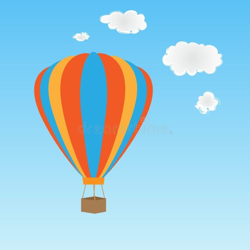воздушный шар горячий иллюстрация штока