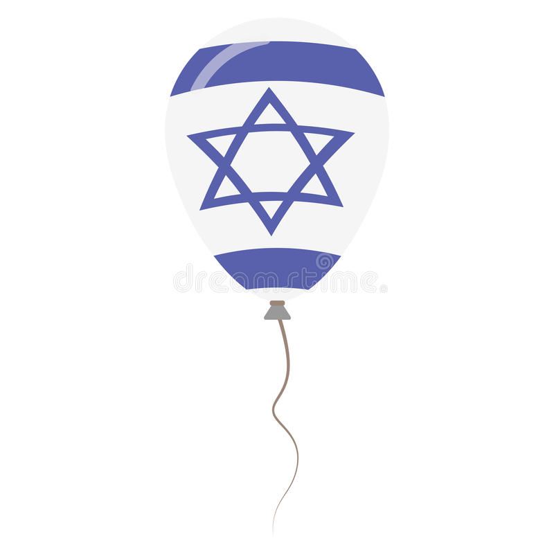 Воздушный шар государства Израиля национальными изолированный цветами бесплатная иллюстрация