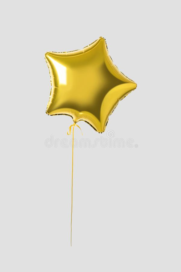 Воздушный шар звезды золота на яркой предпосылке Минимальная концепция партии иллюстрация вектора
