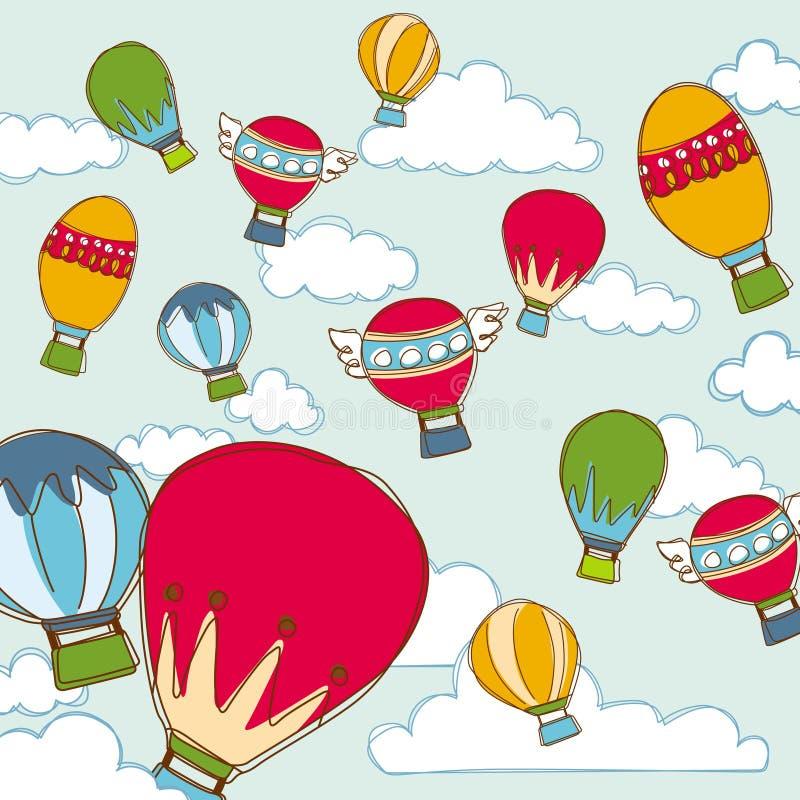 воздушный шар предпосылки стоковое изображение rf