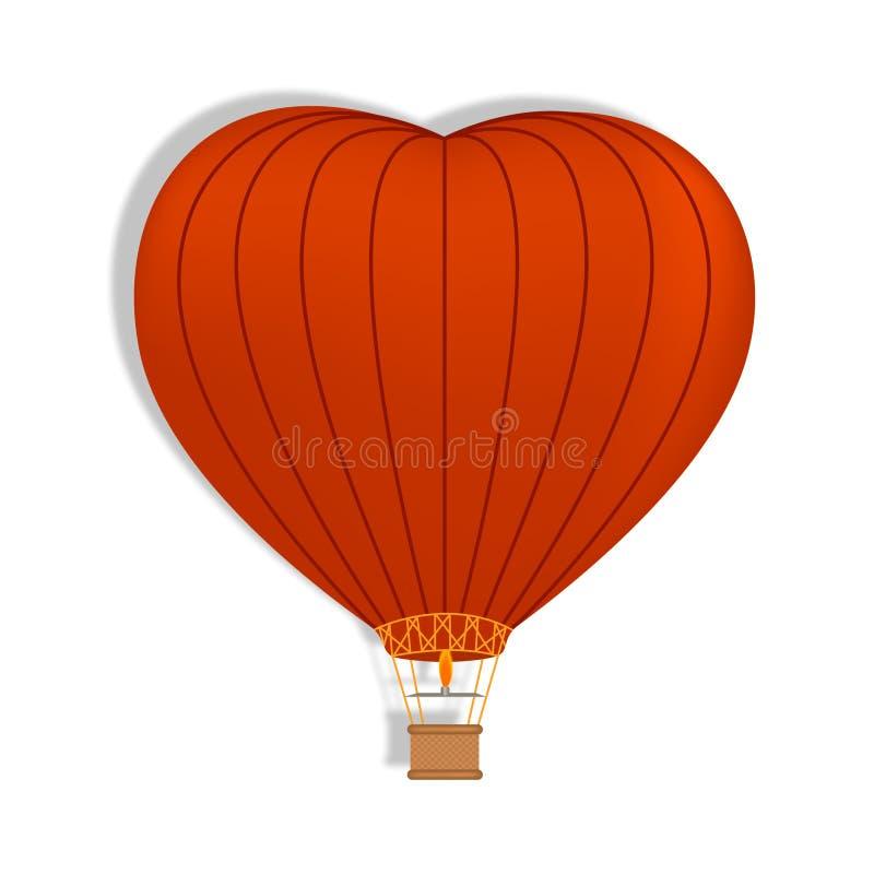 Воздушный шар сердца форменный r иллюстрация штока