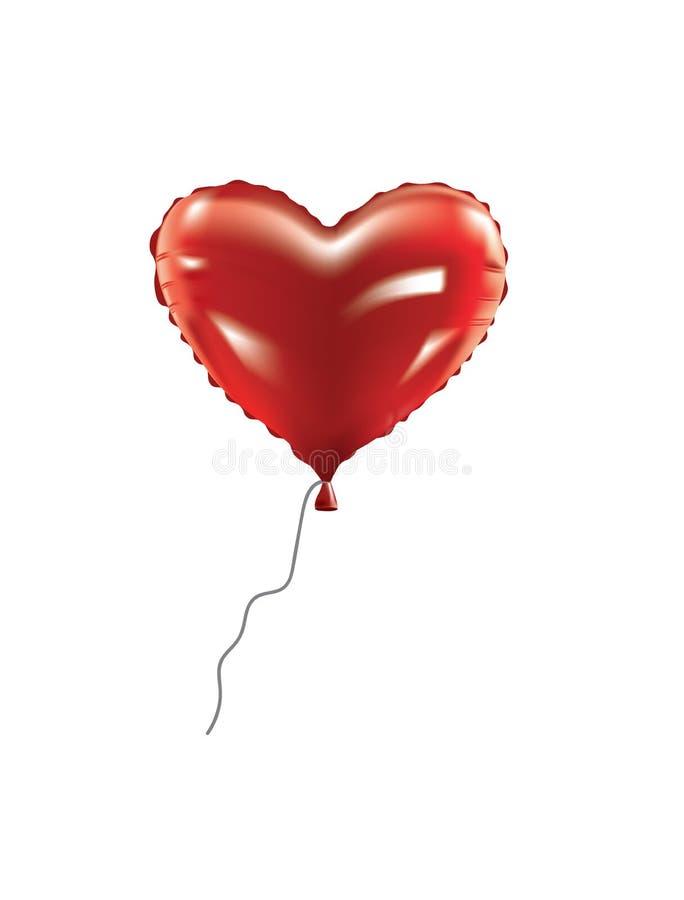 Воздушный шар фольги сердца бесплатная иллюстрация
