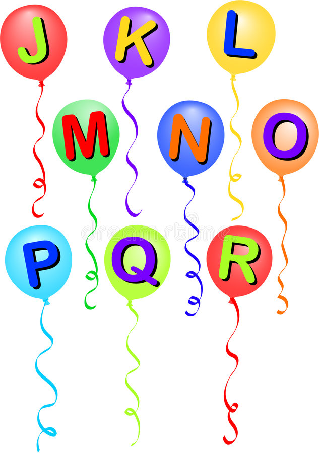 воздушный шар eps j r алфавита бесплатная иллюстрация