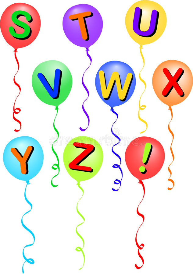 воздушный шар eps s алфавита иллюстрация вектора