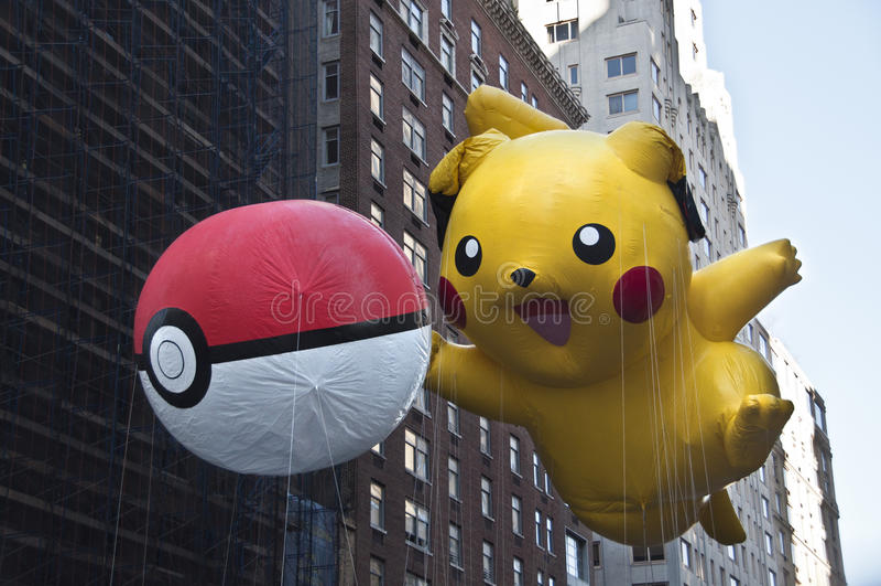 Воздушный шар Pikachu стоковое изображение rf