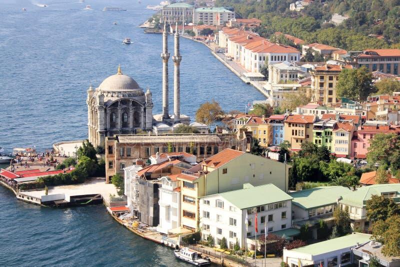 воздушный ortakoy взгляд стоковое изображение rf