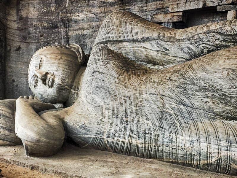 Возлежа Будда на Gal Vihare стоковое изображение rf