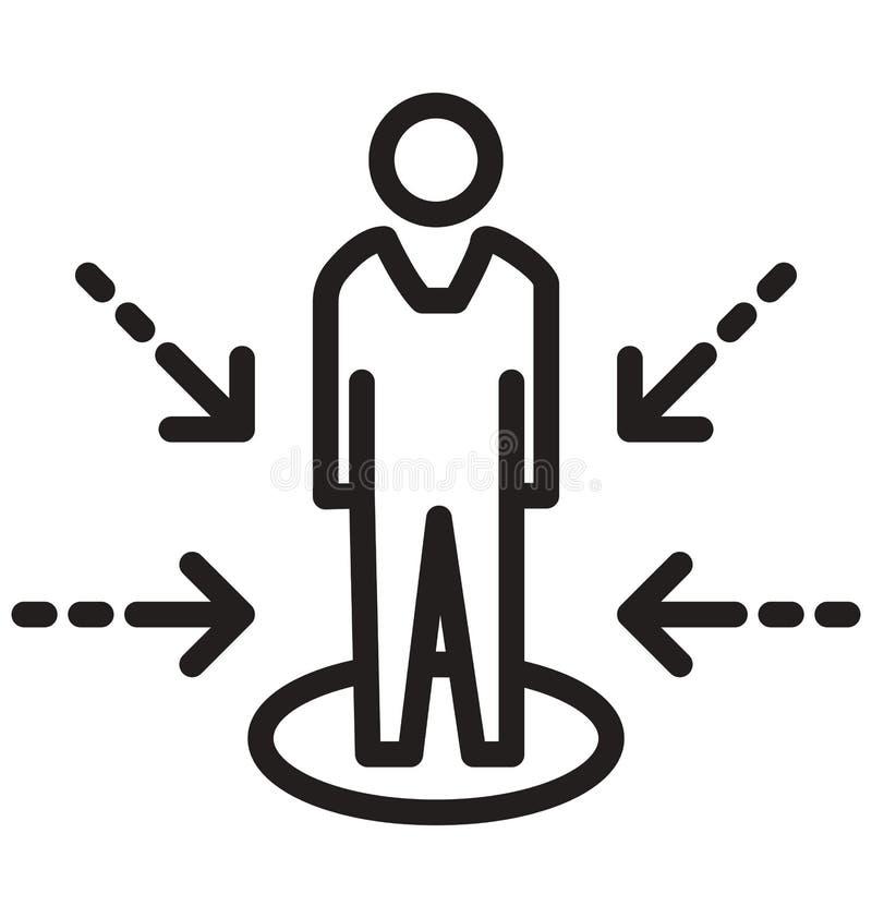 Возможности выравнивают изолированный значок вектора можно легко доработать и редактировать иллюстрация вектора
